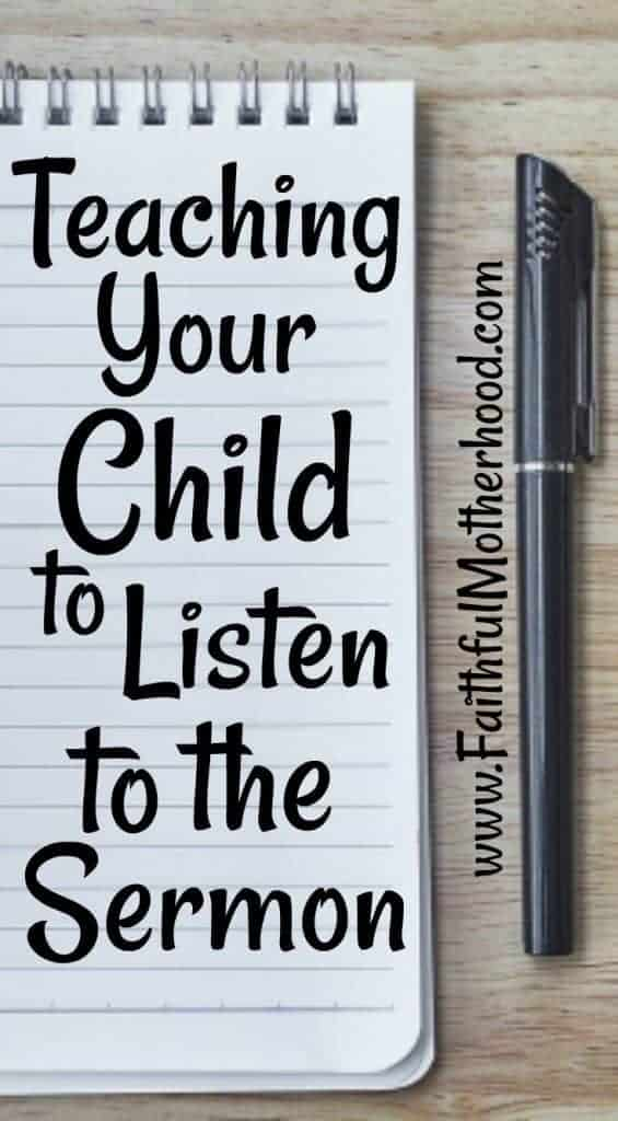 Pad and Pen Teaching your child to listen to the sermon