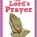 hands folded in prayer - title: teach your child the Lord's prayer