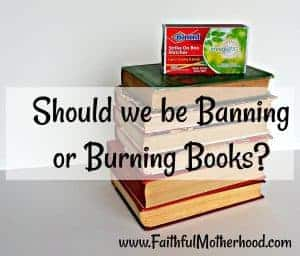 Should we be banning or burning books