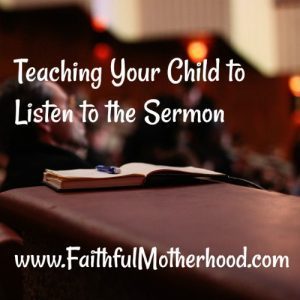 Open Book to help child to Listen to the Sermon