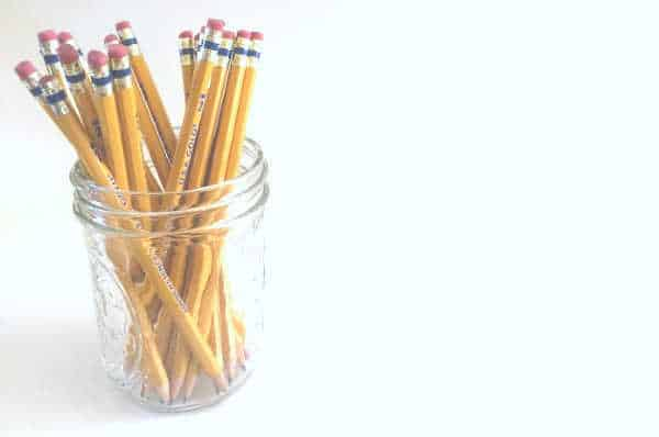 Pencils in a jar - the importance of Sunday school