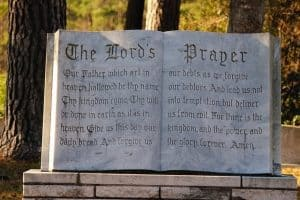 The Lord's Prayer in Stone