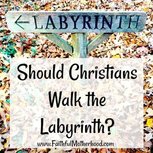 Labyrinth Sign Should Christians walk the labyrinth
