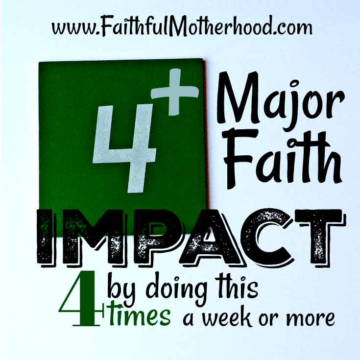 4 Square Faith Impact 4 times a week or more