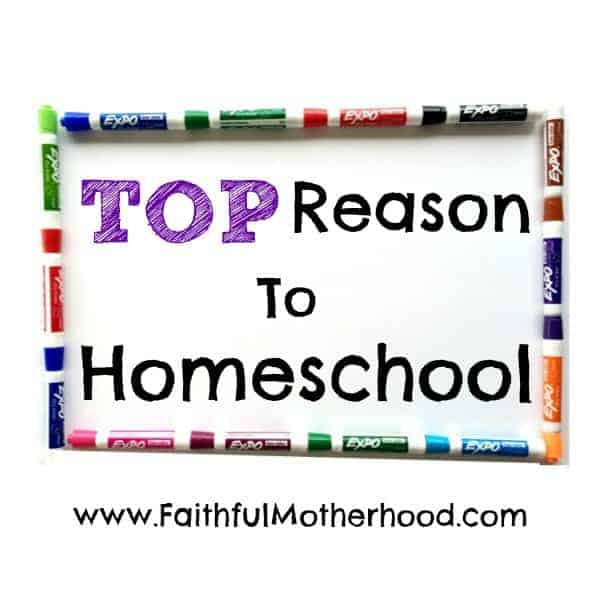 top reason to homeschool dry erase square