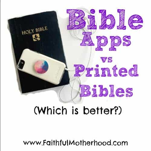 Bible and iphone Title: Bible Apps vs Printed Bibles: Which is better?
