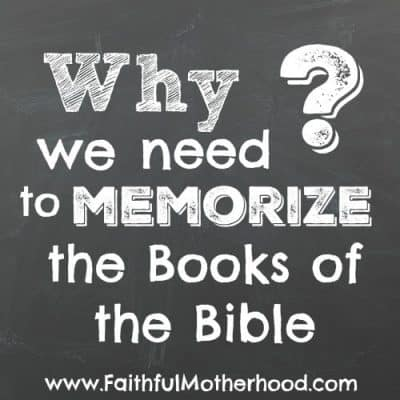 Why You Need to Memorize the Books of the Bible