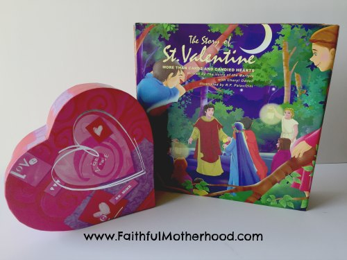 Valentine's Day book and heart box Faith Lessons from Valentine's Day