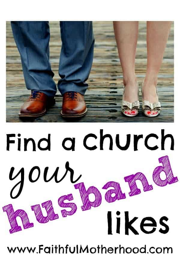 husband and wife feet find a church your husband likes