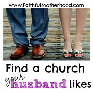 husband & wife feet find a church your husband likes
