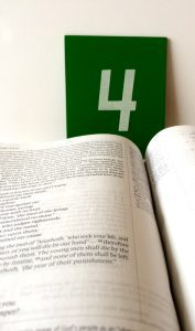 Bible with 4 in the background - overcome Bible study excuses