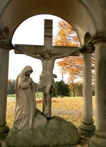Mary & Jesus statue Silent Retreat