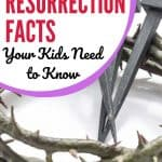 crown of thorns and three nails. Title - Vital Resurrection Facts Your Kids Need to Know