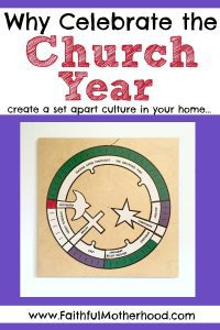 Title: Why celebrate the church year - create a set apart culture with a picture of the church year