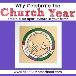 Church Year Puzzle with title: why celebrate the church year