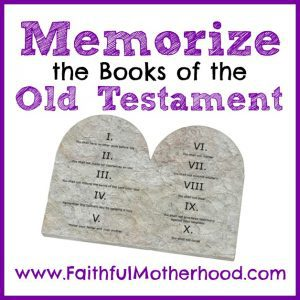 The 10 commandments on white. Title: Memorize the Books of the Old Testament