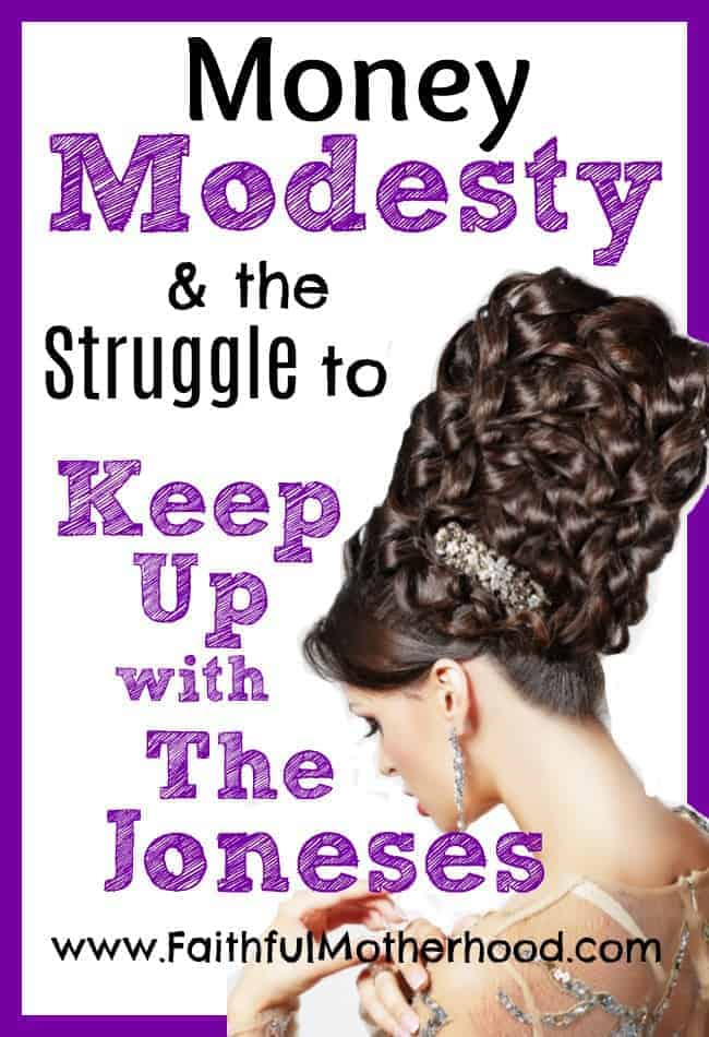 Foot High Updo. Title: Money Modesty & the struggle to keep up with the Joneses