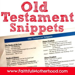 Old Testament Bible Snippets