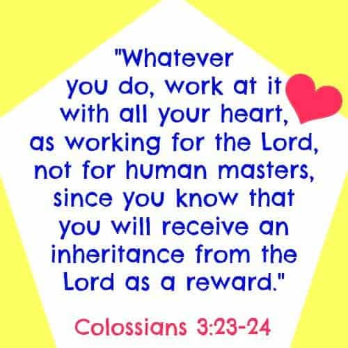 Quote from Colossians 3:23-24