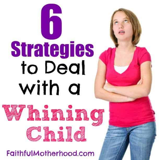 Eye-rolling teen with arms crossed. Title: 6 strategies to deal with a whining child.