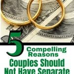 two rings on money - couples have separate bank accounts
