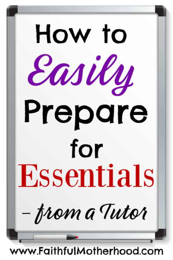 Anxious about what the transition to Essentials is going to look like? Curious about what classical education will look like at this next stage? Wondering if you are doing enough in Foundations? Are you doing too much in Foundations? Get advice from an experienced Essentials tutor on what you need (and don't need) to do to prepare for Essentials. #classicaleducation #essentials #classicalconversations #faithfulmotherhood