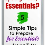 White board with text simple tips to prepare for essentials