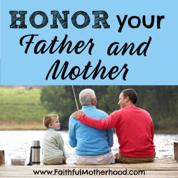 Disrespectful kids? Learn why it is so important to teach our children to honor your father and mother. Get practical advice on what that looks like at home. Do you want your kids to treat you well when you are old?? Discover how to honor your parents as an adult. #honoryourfatherandmother #honoryourparents #honorthyfatherandthymother #honorthyfather #faithfulmotherhood