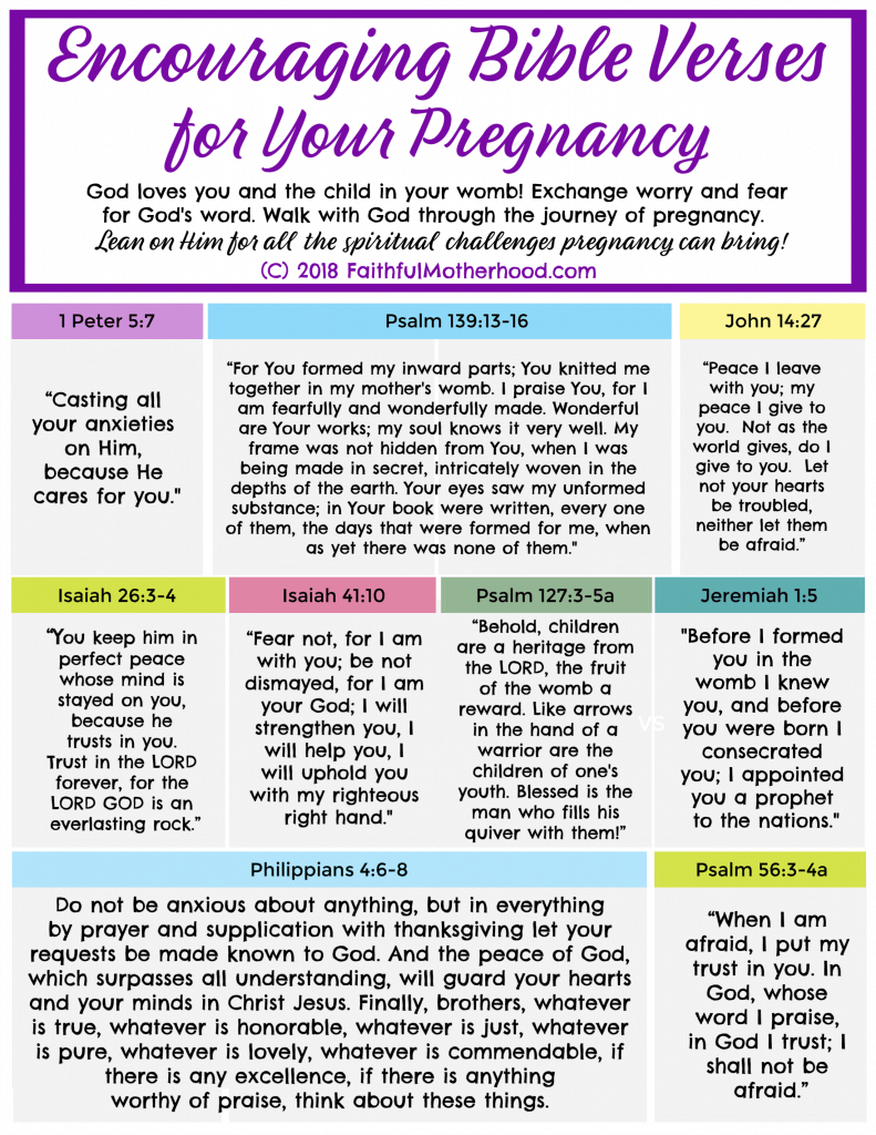 9 Encouraging Bible Verses fro Pregnancy