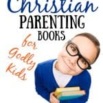 3 Must-Read Christian Parenting Books for Godly Kids with little girl in blue sweater looking up