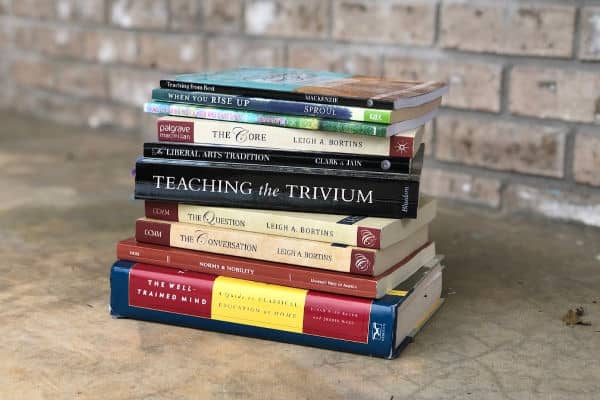 Stack of Classical Christian Education Books