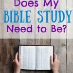 Woman with open Bible. Title: How long does my quiet time need to be