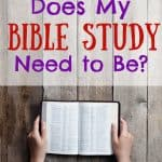 Woman with Bible. Title: How long does my quiet time need to be