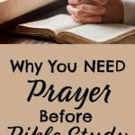 Hands folded in prayer. Title: Why You Need Prayer Before Bible Study