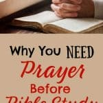 Hands folded in prayer by window over Bible. Title: Why You Need the power of prayer before bible study