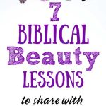 Title: 7 Biblical Beauty Lessons on white background with makeup
