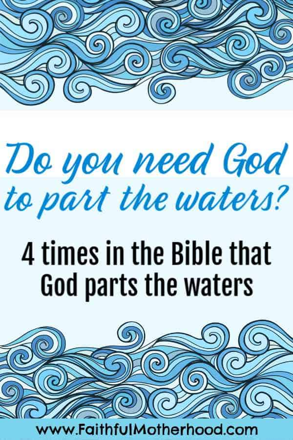 rough waters, line drawing. Title: Do you need God to part the waters?