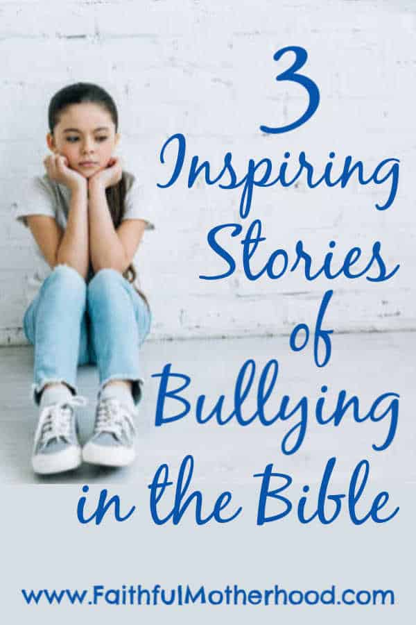 Sad girl. Title: 3 Inspiring Stories of Bullying in the Bible