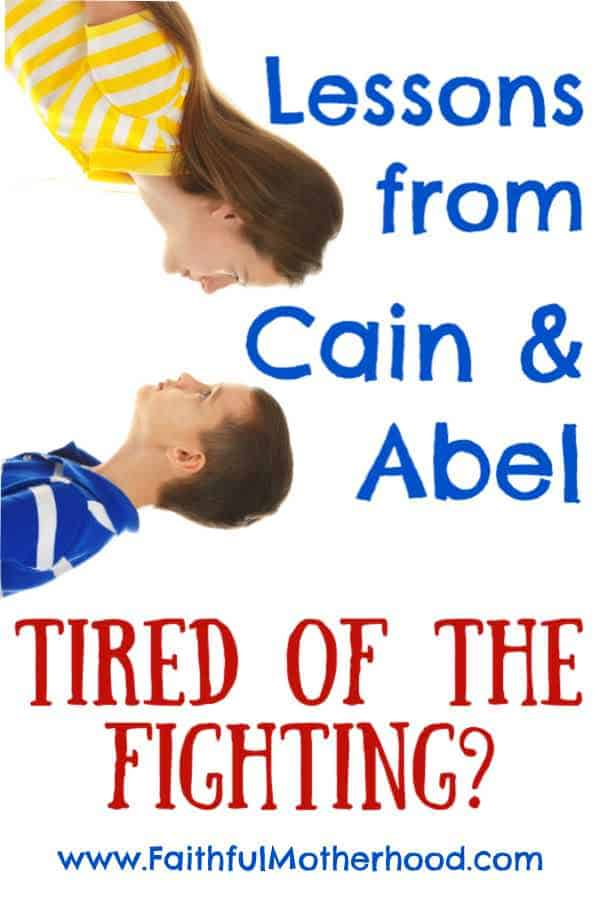 Brother and sister fighting. Title: Lessons from Cain and Able, Tired of the Fighting?