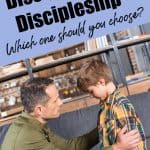 Dad teaching son. Title - Discipline or Discipling? What is Discipling?