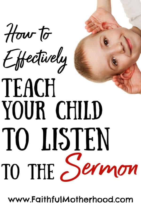 Little boy peeking in from the corner. Title: How to Effectively teach your child to listen to the sermon.