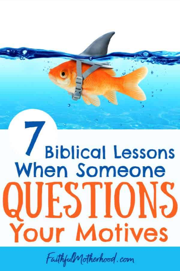 fish swimming with shark hat - title 7 biblical lessons when your motives are questioned.