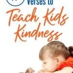 little girl in orange with kitten - effective bible verses to teach kids kindness