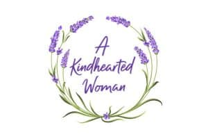 Lavender Wreath with A Kindhearted Woman inside - kindness bible verses for moms