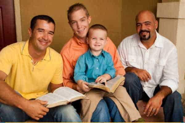 fathers and sons with Bibles - find a church your husband likes