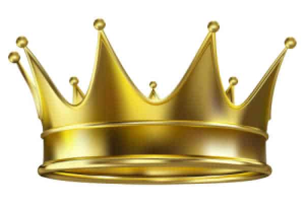 Someone questions your call, even though you have the crown. Picture of a simple, gold crown.