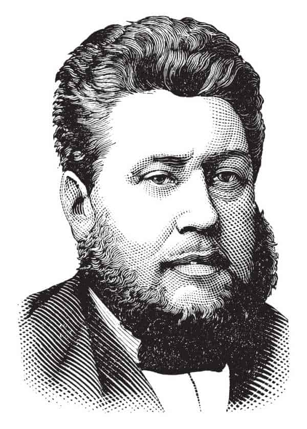 Vector drawing of Rev. Charles Spurgeon